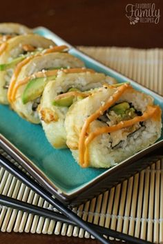 If you are intimidated by homemade sushi, Godzilla Rolls are a GREAT place to start. These shrimp, avocado, & cream cheese rolls are super easy to make at home