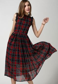 Stand out in the crowd. Tartan Dress, Tartan Plaid, Dress Skirt, Dress Up, Dress Outfits, Vestidos Vintage, Vintage Dresses, Womens Clothing Stores, Clothes For Women