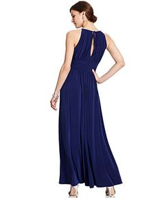R Richards Petite Dress, Sleeveless Beaded Evening Gown - Petite Dresses - Women - Macy's