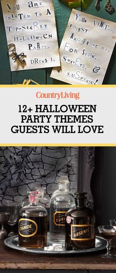 Every hostess needs some great Halloween party themes. Check out these fun ideas for Halloween costume party themes, and send out your invites to adults and kids alike! Halloween Costume Party Themes, Halloween Party Activities, Halloween Party Themes, Halloween Party Invitations, Halloween Birthday, Couple Halloween, Halloween Fun, Halloween Tricks, Halloween Decorations