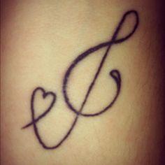 My tattoo. Music<3