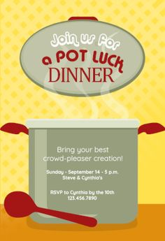 Potluck Lunch Invitation Printables Pinterest Potluck