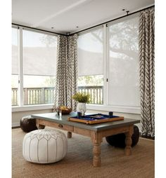 Smith and Noble solar shades - need for living room