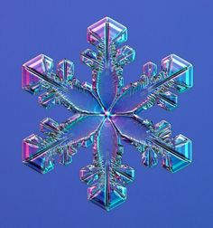 Increíblemente hermoso copo de nieve