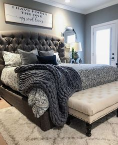 ✔ 38 Attractive Bedroom Furniture Master Head Boards for Cozy Bedroom Ideas Home Decor Inspiration, Home Decor Bedroom, Home Bedroom, Home Decor, Bedroom Furniture, House Interior, Bedroom Inspirations, Bedroom Inspiration Grey, Remodel Bedroom
