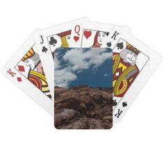 Red Rock Canyon  Nevada Playing Cards - home gifts ideas decor special unique custom individual customized individualized