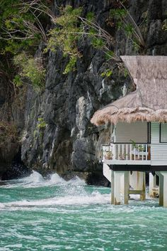 Over the Ocean Cottage, Palawan, The Philippines