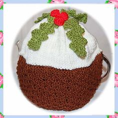 Ravelry: Chocolate Christmas Pudding Decoration Holly Berry Teapot Tea Pot Cosy Cozy DK Yarn Knitting Pattern pattern by Adel Kay