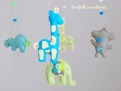 Baby crib mobile Custom Baby Mobile Elephant