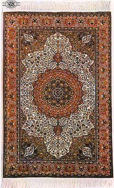 Konya Taban carpet with cotton base and wool knots.