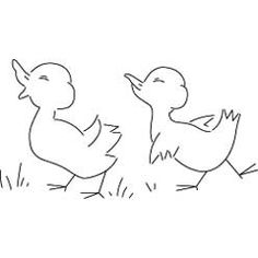 Pattern Detail | Two Ducklings Marching | Needlecrafter