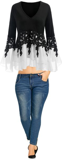 Stock up on essential women's basic t-shirts & tees at Dresslily. Shop crew cut styles & more. Free shipping worldwide when you buy online.#blouse#jeans