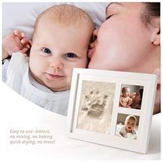 SafBabies Baby Handprint and Footprint Clay Kit Picture Frame White >>> Click image for more details. (This is an affiliate link and I receive a commission for the sales) White Picture Frames, Baby Keepsake, Footprint, Clay, Kit, Image, Home Decor, Products, White Frames