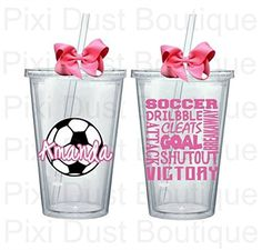 Soccer Cup- Custom Water Bottle Tumbler Gift -- Awesome products selected by Anna Churchill