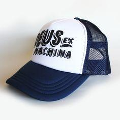 デウスエクスマキナ インディゴ トラッカー キャップ ネイビー×ホワイト