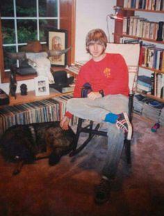 Young Eddie...look at that hair!!