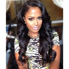 Long hairstyles with weave for black women ❤ liked on Polyvore featuring hair and hairstyles