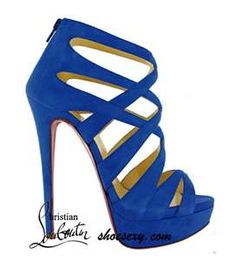 Blue Suede Louboutin