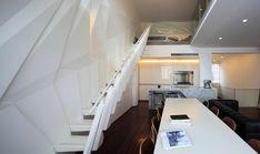 Modern Environment Recreated in a Duplex Rental in Shanghai , Wulumuqi Road Apartment was inspired by Shanghai's urban vibe. It is very modern, bright and it boasts an interesting staircase. , Admin , http://www.listdeluxe.com/2017/11/23/modern-environment-recreated-in-a-duplex-rental-in-shanghai/ ,  #ModernAtmosphereRecreatedinaDuplexApartmentinShanghai-Freshome.com, , Modern Environment Recreated in a Duplex Rental in Shanghai