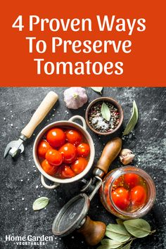 When your tomato crop is in full bloom, your mind starts crowding with recipes you're going to try. However, if your flourishing garden produces baskets of tomatoes, it's practically impossible to use them all fresh before they start going bad. Learn how to preserve tomatoes and use them for months without fearing that they will go bad. Preserving Tomatoes, Grow Tomatoes, Produce Baskets, Natural Flavors, Vegetable Garden, Preserves, Sauces, Harvest, Home And Garden