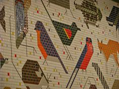 Charley Harper mosaic by dullshick, via Flickr