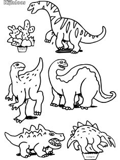 Dinosaurs for diorama Earth Day Coloring Pages, Dinosaur Illustration, Dinosaur Crafts, Crafty Kids, Drawing For Kids, Coloring For Kids, Creative Crafts, Art Tutorials, Baby Quilts