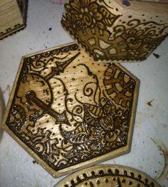 Work in Progress: Steampunk Henna Designs on Wood Boxes. Wood Boxes, Henna Designs, Steampunk, Painting, Comic Con, Henna Art Designs, Wooden Crates, Wood Crates, Painting Art