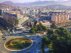 Podgorica, Capital of Montenegro. Podgorica is the capital and largest city of Montenegro. In contemporary history the city was also known as Titograd from 1946 to 1992 during the existence of SFR Yugoslavia. Beautiful Sites, Beautiful Places, Antigua Yugoslavia, Places Around The World, Around The Worlds, Podgorica Montenegro, Les Balkans, Fjord, Voyage Europe