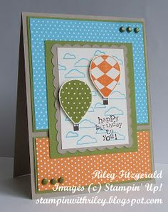 Stampin' with Riley: Up Up & Away for your Birthday!