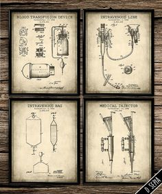 Patent Medical Set | Vintage Prints | Patent Print | Office Decor | Home Decor | Printable Wall Art | Vintage Wall Art | Download |