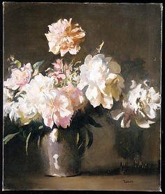 Still Life: Vase of Peonies Edmund Charles Tarbell (1862–1938) Date: ca. 1925 Medium: Oil on canvas