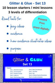 Senior English / ELA students.  A resource set to go for presentation, print or digital use.  Writing about: - key ideas - evidence - purpose  Enjoy! Literacy Strategies, Bell Ringers, Formative Assessment, Reading Activities, Differentiation, High School Students, Critical Thinking, Middle School, Distance
