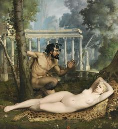 Adolphe Alexandre Lesrel (1839 - 1890) - Venus and Pan, 1865