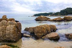View of Hajodae Beach in East Sea, Yangyang, South Korea