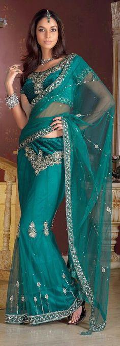Bridesmaid #2 Turquoise Sari