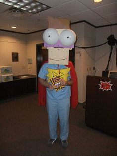Scholastic Book Fairs employee dressed as Buzz from Tedd Arnold's award winning FLY GUY series.