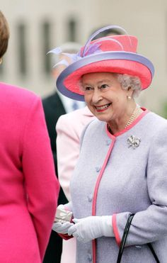 Queen Elizabeth II at the State Capitol Building on the first day of her USA tour on May 3, 2007 in Richmond, Virginia.