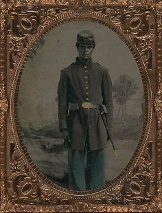 Portrait of Black Union Soldier c 1864