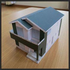 Japanese house paper model