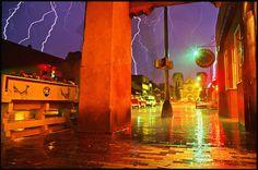 Robert Luis Chavez (1962 - ) Hailstorm On the Plaza, August 2003 Archival Pigment Print On Ilfochrome Deluxe