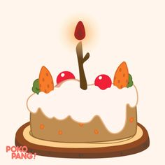 Happy Birthday Cake GIF by POKOPANG - Find & Share on GIPHY