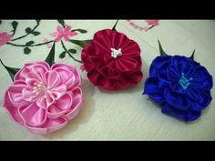 ▶ D.I.Y. New Kanzashi Flower - YouTube