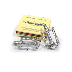Vintage Campagnolo Super Record track pedals...the stuff that dreams are made of