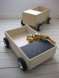 DIY Chalkboard Learning Wagons