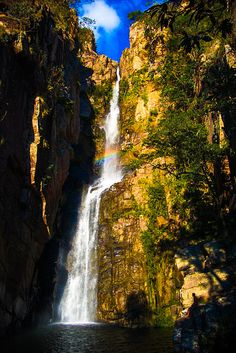 Veu da Noiva Waterfall ,  Serra do Cipo  Brazil