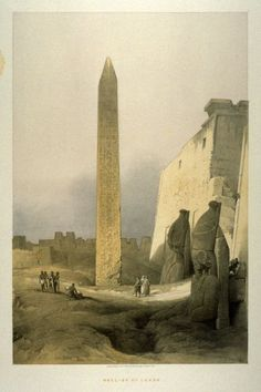 Louis Haghe (after David Roberts) Obelisk of Luxor - Egypt (19th century).