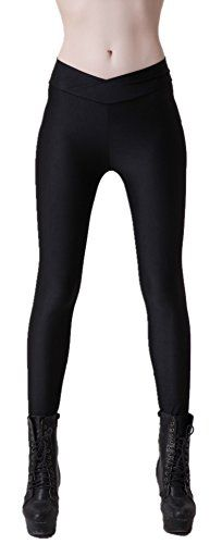 Women s Active Liquid Wet Look Shiny Skinny Stretch Ankle Length Workout  Leggings Sports Pants 3b60086dba2d