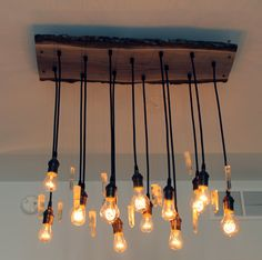 Urban Chic Chandelier with reclaimed wood by urbanchandy on Etsy
