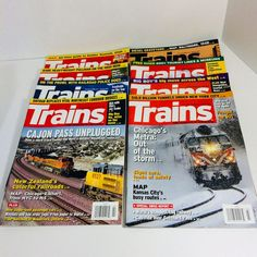 TRAINS Magazine Lot of 8 Issues Railroads Railroading Transportation Modern | Books, Magazine Back Issues | eBay!