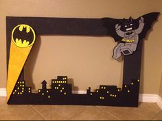 Lego Batman Styrofoam frame - Lego Batman - Ideas of Lego Batman - Lego Batman Styrofoam frame Lego Batman Party, Lego Batman Birthday, Superhero Birthday Party, 4th Birthday Parties, Boy Birthday, Birthday Ideas, Baby Batman, Batman Vs, Batgirl